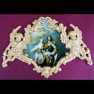 Faux ormolu.Ornament (#165) Furniture decoration.Antique reproduction