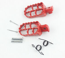 Red Alu Foot Rests Foot Pegs For 1987-2013 Kawasaki KLR 650 KLR650 Bike footpegs