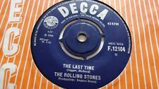 THE ROLLING STONES   THE LAST TIME c/w PLAY WITH FIRE   DECCA RECORDS 1965