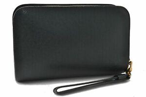 Authentic Louis Vuitton Taiga Baikal Clutch Bag Green M30184 LV C4666