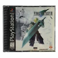 Final Fantasy VII (PlayStation 1, 1997) Black Label No Manual