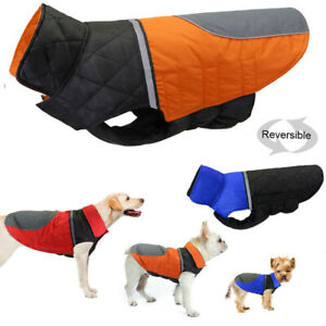 Small Large Dog Coat for Winter Waterproof Jacket Cold Weather Reflective Boxer