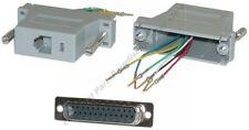 DB25 pin Male~RJ12/RJ11 Jack Modular Adapter 6P6C 6wire Aux/Data/Phone/Telephone