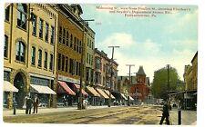 Punxsutawney PA -MAHONING STREET AT EBERHART & SNYDER DEPARTMENT STORE- Postcard