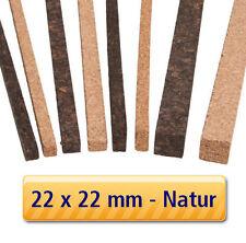3 Stück - Korkstreifen für Modelbau, Dehnungsfugen, Basteln // 22x22x900mm NATUR