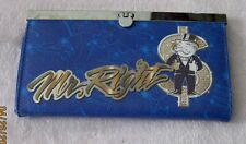 MONOPOLY Game Mr. Right  RICH & SINGLE Hinged Wallet Clutch Purse Flip Lock