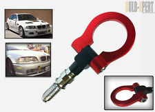 FRONT REAR BUMPER SCREW ON TOW HOOK KIT RED FOR BMW 325 335I 330 328 318 M3