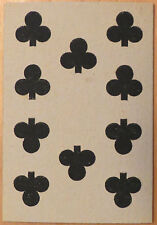 Vintage Circa 1865-1880 Great Mogul Belgian Playing Card 10 of Clubs