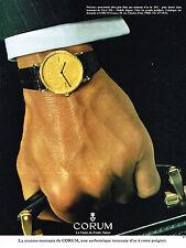 PUBLICITE   1978    CORUM  Montre collaction montre-monnaie