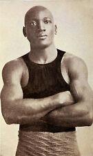 Jack Johnson World Heavyweight Boxing Champion Black 1908, Reprint 6x4'' Photo