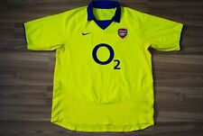 ARSENAL LONDON 2003/2004 AWAY FOOTBALL SHIRT JERSEY MAGLIA NIKE HENRY ERA LARGE