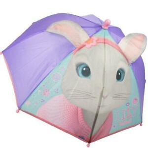 Peter Rabbit Lily Bobtail Girls Rain 3D Ears Umbrella School Panel Brolly Gift
