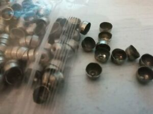 VINTAGE BEADS AND JEWELLERY FINDINGS SALE - bag of 200 silvertone 6mm end caps