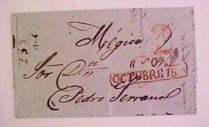 MEXICO STAMPLESS 1855 LAGOS