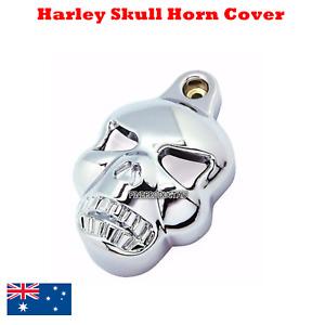 Skull Horn Cover Fit Harley Davidson Softail Dyna Glide Big Twin Cam Electra Evo