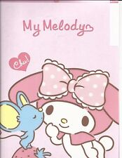 Sanrio My Melody Folder Portfolio Side Open Tabbed With Three Pockets