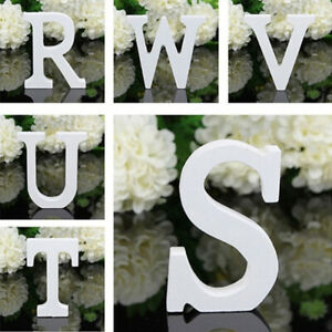 White Wooden Letters Love Alphabet Wall Hanging Wedding Party Home Decoration
