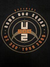 U2 Tour Crew Staff Shirt Dog Bomb Squad L Bono �🔥🤘