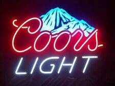 "New Coors Light Beer Neon Sign 17""x14"" Ship From USA"