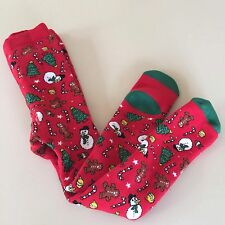 H&M ADORABLE Girl's-Boy's Red TIGHTS  Size 6-12 months, NEW!!  ADORABLE!!