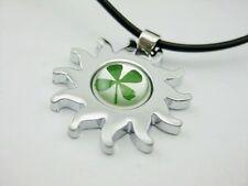 Shamrock Irish Cool clover Four-Leaf clover hot sun necklace pendant Gift