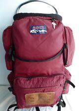 Vintage Jansport Burgundy External Frame Large Backpack Hiking Made in USA
