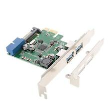 PCI-E PCI Express Karte 19-Pin USB3.0 15-poligen 2-Port SATA- Low Profile Card
