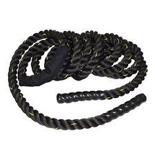 "1.5"" Fitness Heavy Battle Rope 50ft Poly Dacron Climbing Training Exercise Black"