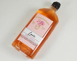 Bath and Body Works Aromatherapy Love Rose Vanilla Body Wash New 10 oz