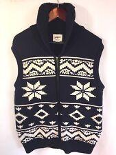 VTG Field Stream Men's Shawl Collar Sweater Vest Medium Full Zip RARE Beautiful!