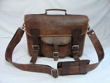 "Leather Briefcase 15.6"" Laptop Satchel Messenger Bag Office School Shoulder Bag"