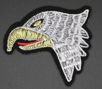 """EAGLE HEAD PATCH, EMBROIDERED BALD EAGLE HEAD PATCH, 2.5""""x2.375"""" (BE-152)"""