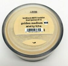 bareMinerals MATTE Loose Powder Foundation GOLDEN MEDIUM Full SZ 6G AUTHENTIC