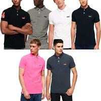 Superdry Polo Shirts Classic Pique Short Sleeve Tops Assorted Colours