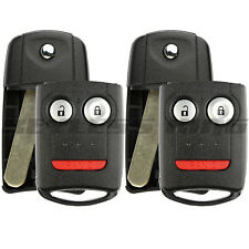 2x New Replacement Keyless Entry Remote Flip Car Key Fob Shell Case for Acura 3b