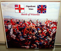 Napoleonic Wars BATTLE OF WATERLOO - British Heavy cavalry Charge CERAMIC TILE