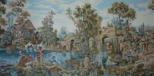 """RARE 73"""" Large Wall Tapisserie Renaissance style Tapestry Tapestries Antique"""