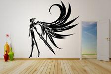 Wall Vinyl Sticker Decal Anime Manga Sword Wings Angel Knight Girl V024