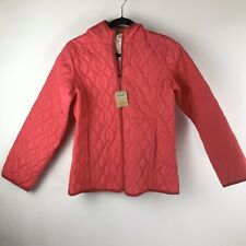 NWT Land's End Girls Insulated Packable Hooded Jacket Pink  Size XL (16)