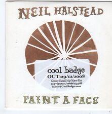 (FG314) Neil Halstead, Paint A Face - 2008 DJ CD