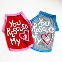 You Rescued My Heart Dog Tshirt Tee Pet Love Pink Blue Size S M L Small Puppy