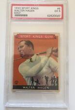 1933 Sport Kings Walter Hagen Golf #8 PSA EX 5