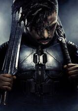Negro Panther Película Foto Impresa Póster Michael B Jordan Erik Killmonger 006
