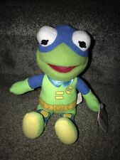 "NWT Muppet Babies Kermit Disney Junior The Froginizer Plush Beanie 8"" Super Cute"