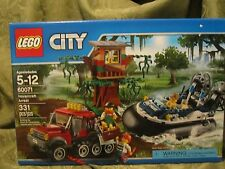 LEGO City 60071 Hovercraft Arrest Boat Get-Away Car Tree House Police Swamp new
