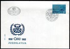 1976b - Yugoslavia 1983 - Maritime Navigation - OMI - FDC
