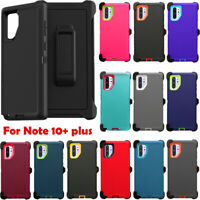 For Samsung Galaxy Note 10+ Plus Defender Case Cover W/Belt Clip Fits Otterbox