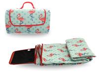 Pink Flamingo Folding Picnic Travel Beach Outdoor Camping Waterproof Blanket Mat