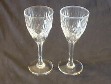 """St Louis Crystal France CHANTILLY 6"""" Claret Wine Glasses Lot of 2"""