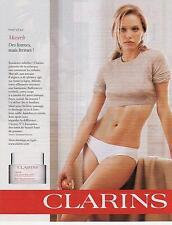 ▬► PUBLICITE ADVERTISING AD  Produits de Beauté crème CLARINS 2013